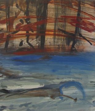 Untitled (Lost Hyena), 2012, 61×52 cm, acrylic on board