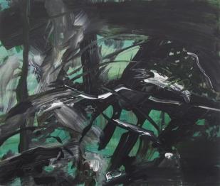 Untitled (Peep), 2012, 61×72 cm, acrylic on board