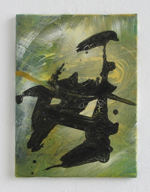 Praying Mantis, 2013, 40×30 cm, acrylic on canvas
