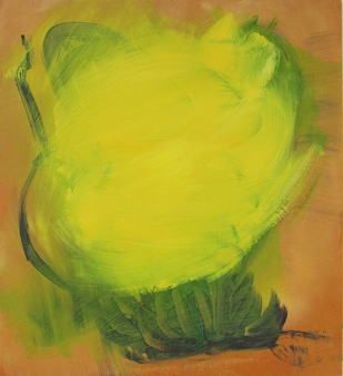 Yellow Smoke Diversion, 2014, 44×40 cm, Acryl op MDF