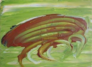 Crabby, 2015, 18x24 cm, acrylic on canvas