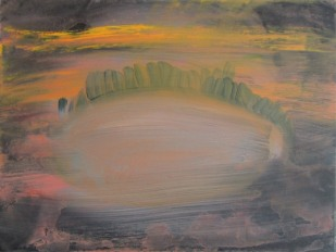 ECO UFO (the newest invention), 2015, 30×40 cm, acrylic on canvas